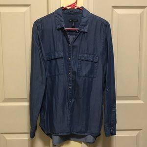 Chambray boyfriend fit shirt